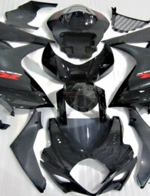 ABS Fairings Black on Black 25pc Fairing Set - Suzuki GSXR1000 2007-2008