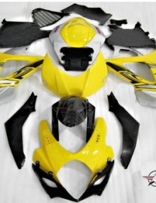 ABS Fairings Yellow & Silver 25pc Fairing Set - Suzuki GSXR1000 2007-2008
