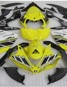 ABS Fairings Black & Yellow 26pc Fairing Set - Yamaha YZF-R1 2007-2008