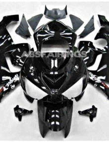 ABS Fairings All Black 16pc Fairing Set - Kawasaki ZX6R 2003-2004