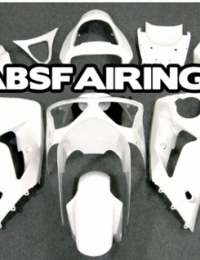 ABS Fairings All Pearl White 16pc Fairing Set - Kawasaki ZX6R 2003-2004