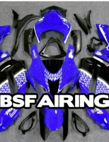 ABS Fairings Blue Nakano Racing 21pc Fairing Set - Kawasaki ZX6R 2007-2008