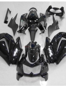 ABS Fairings All Black 13pc Fairing Set - Kawasaki Ninja 250R 2008-2011