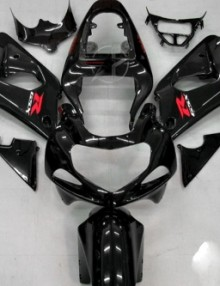 ABS Fairings Black 9pc Fairing Set - Suzuki GSXR 600/750 2000-2003