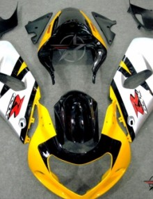 ABS Fairings OEM Style Yellow & Silver 9pc Fairing Set - Suzuki GSXR 600/750 2000-2003