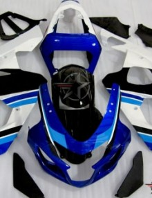 ABS Fairings Anniversary Blue & White 9pc Fairing Set - Suzuki GSXR 600/750 2004-2005