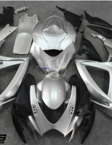 ABS Fairings All Silver 24pc Fairing Set - Suzuki GSXR 600/750 2006-2007