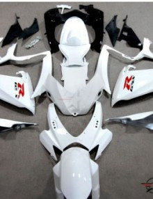 ABS Fairings All White 24pc Fairing Set - Suzuki GSXR 600/750 2006-2007