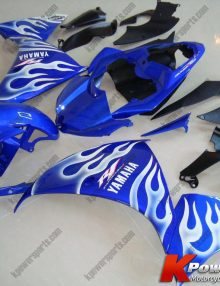 Blue & White Flame ABS 21pc Fairing Set - Yamaha R1 2009-2011