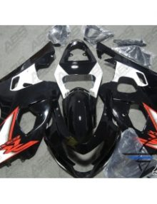 ABS Fairings Black & Red - 04-05' GSXR 600/750
