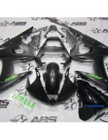 ABS Fairings Black with Green Decals - 03-05' R6