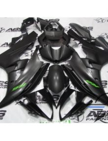 ABS Fairings Matte Black with Green - 06-07' R6