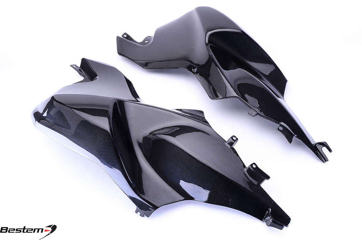Bestem BMW K1200S Carbon Fiber Tank Side Panels