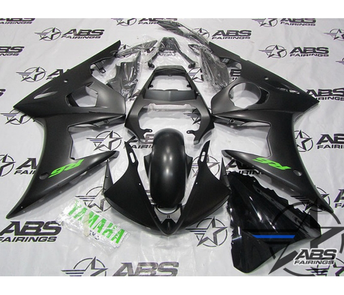 ABS Fairings Black with Green Decals - 06-09' R6S