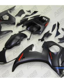 ABS Fairings Matte Black & Red - 06-09' R6S