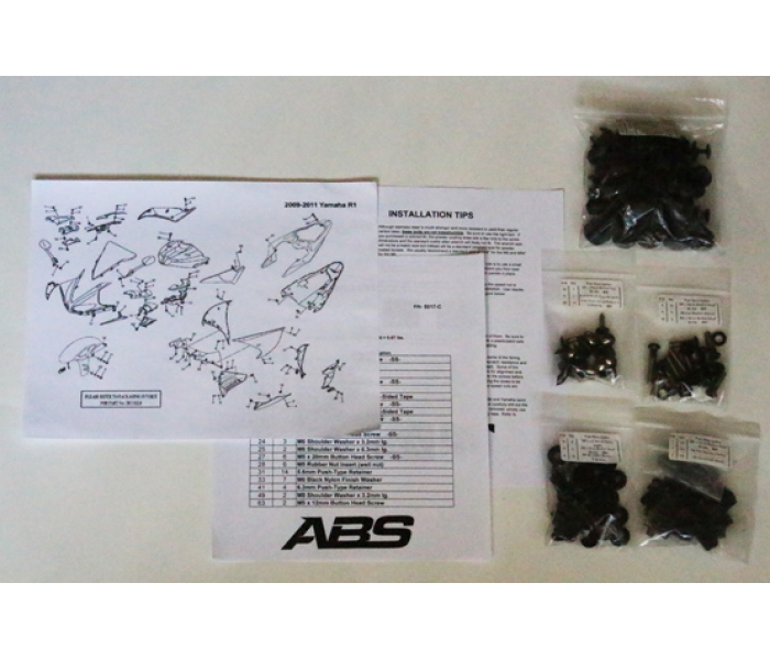 abs fairings kawasaki ninja zx6r fairing fasteners motorcycle Zx9r Wiring Diagram thumb