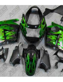 ABS Fairings Green Flames - 1996-07' CBR1100XX Blackbird