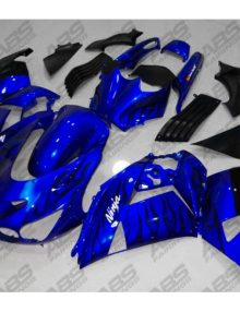 ABS Fairings Blue with Black Flames - 06-11' ZX14R