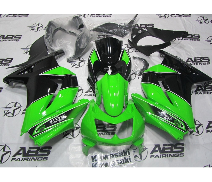 ABS Fairings Green & Black - 08-11' Ninja 250R