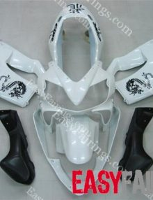 Easy Fairings 04-07 Honda CBR600 F4i Fairings: White Dragon
