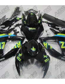 ABS Fairings Black & Blue Rizla - 06-07' GSXR 600/750