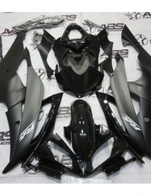 ABS Fairings Black on Black 24pc Fairing Set - Yamaha R6 2008-2014