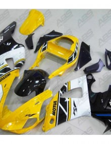 ABS Fairings 40th Anniversary Yellow & Black 14pc Fairing Set - Yamaha YZF-R1 2000-2001