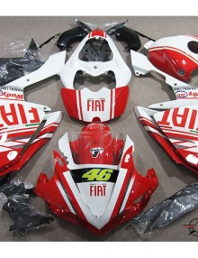 ABS Fairings Red Fiat Racing 26pc Fairing Set - Yamaha YZF-R1 2007-2008