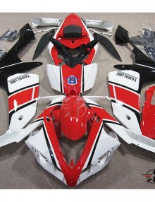 ABS Fairings Red, Black, and White 26pc Fairing Set - Yamaha YZF-R1 2007-2008