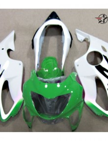 ABS Fairings Green & White 12pc Fairing Set - Honda CBR600F4 1999-2000