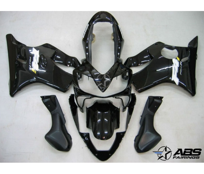 ABS Fairings All Black 8pc Fairing Set - Honda CBR600 F4i 2004-2007