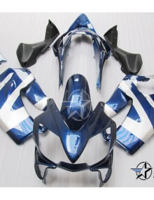 ABS Fairings Blue & Pearl White 8pc Fairing Set - Honda CBR600 F4i 2004-2007