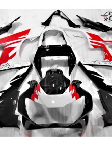 ABS Fairings Red, Black & White 10pc Fairing Set - Honda CBR929RR 2000-2001