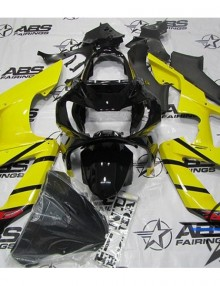 ABS Fairings Yellow & Black 10pc Fairing Set - Honda CBR929RR 2000-2001
