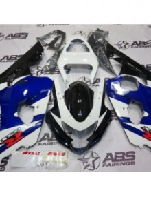 ABS Fairings Blue, White & Black - 04-05' GSXR 600/750