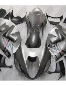 ABS Fairings Gunmetal Grey & Silver - 99-07' Hayabusa GSXR1300