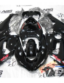 ABS Fairings Black with Red Decals - 05-06' ZX6R