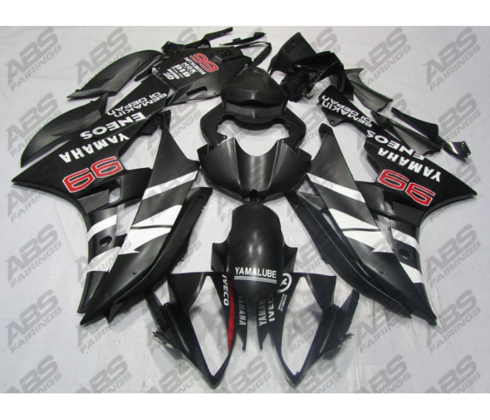 ABS Fairings Matte Black ENEOS Edition 24pc Fairing Kit