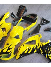 ABS Fairings Yellow & Black Flames - 98-99' R1