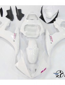 ABS Fairings White with Red - 06-09' R6S