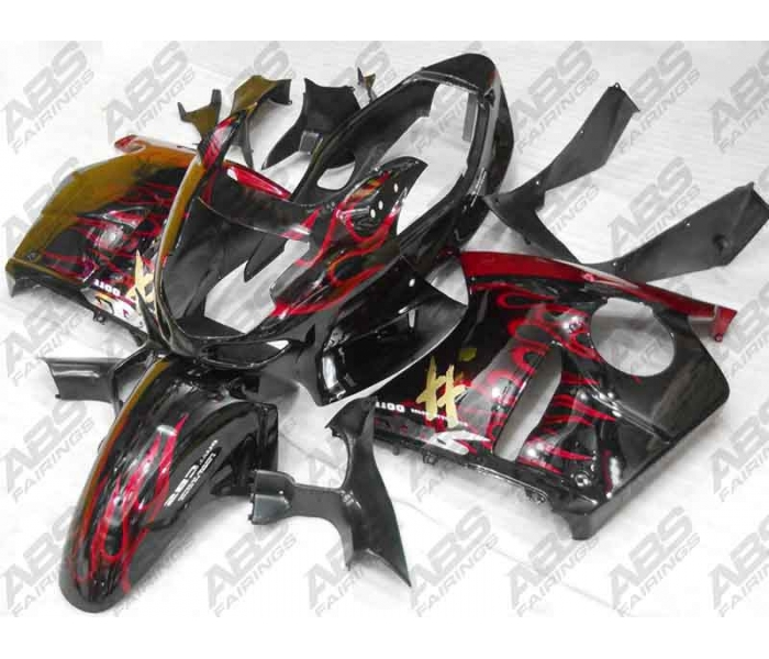 ABS Fairings Red Flames - 1996-07' CBR1100XX Blackbird