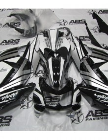 ABS Fairings Black, White & Silver - 08-12' Ninja 250R