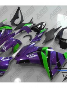 ABS Fairings Purple & Green - 08-11' Ninja 250R