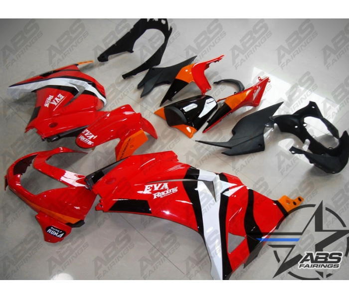 ABS Fairings Red & Orange - 08-11' Ninja 250R