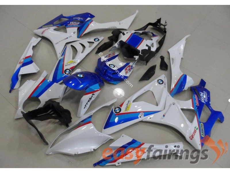 Easy Fairings Light Blue & White Fairings Set - BMW S1000RR 2012-2013