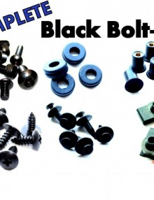 Easy Fairings  2007-2011 Ducati 848/1098/1198 Black Fairing Bolts-CBK Complete Kit