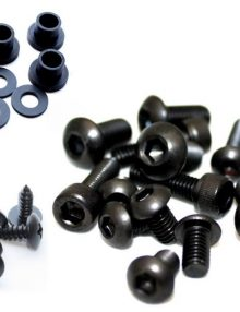 Easy Fairings 1993-2003 Ducati 748/916/996/998 Black Fairing Bolts: SBK-Screws/Bots/Washers Kit