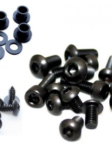 Easy Fairings  2007-2011 Ducati 848/1098/1198 Black Fairing Bolts: SBK-Screws/Bots/Washers Kit