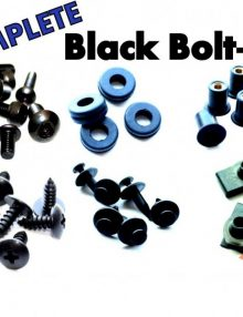 Easy Fairings 1993-2003 Ducati 748/916/996/998 Black Fairing Bolts-CBK Complete Kit