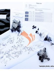 Easy Fairings 2007-2011 Ducati 848/1098/1198 fairing bolt kit / bolts, fasteners set